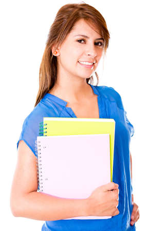 Female student isolated over a white background Stock Photo - 16587242