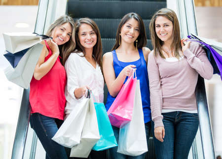Group of girls at the shopping center Stock Photo - 16848475