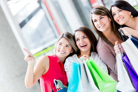 Group of women shopping at the mall Stock Photo - 17425390