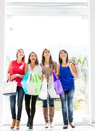 Group of women walking at the shopping center Stock Photo - 17405958