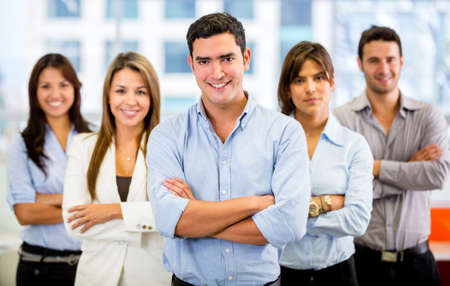 casual business team: Successful business team with arms crossed at the office