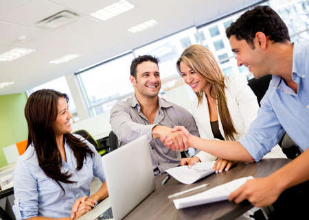 Successful business group working at the office Stock Photo - 18055405