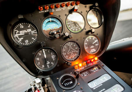 Cockpit or flight deck of a helicopter Stock Photo - 19237673