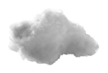 3D Cloud - isolated over a white background Stock Photo - 19237675