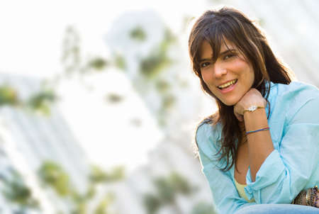 Portrait of a beautiful casual woman looking very happy Stock Photo - 19226760