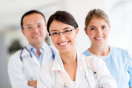 medical lab: Medical staff at the hospital looking happy Stock Photo