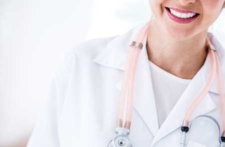 Close up of a doctor with a stethoscope around her neck Stock Photo - 19721174