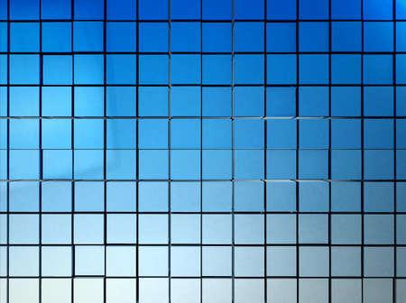 grading: Mosaico 3D de cuadrados azules con una ley en blanco - para su uso como fondo