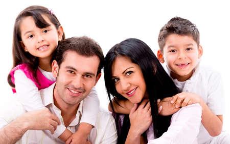 Mutlu Aile Portresi - Beyaz Bi...
