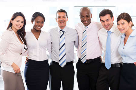 black business men: Successful business team looking very happy at the office Stock Photo