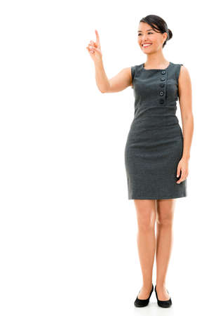 Business woman pointing with her finger - isolated over white Stock Photo - 22098808