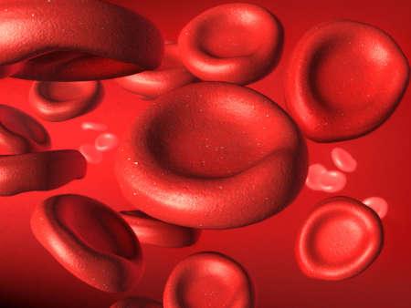 Blood cells stream. Digital illustration. Stock Illustration - 2520258