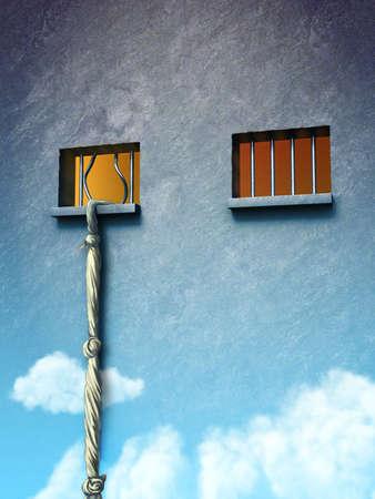one sheet: Dal carcere alla libert�. Illustrazione digitale originale. Archivio Fotografico