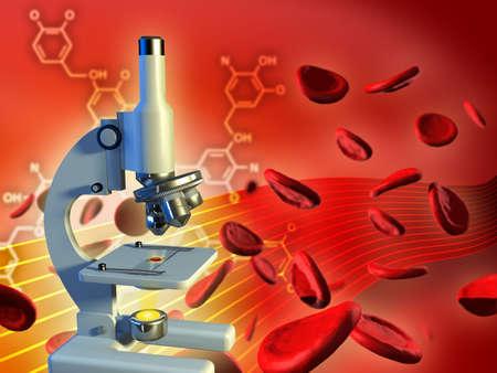 Dna strand in a laboratory flask. Digital illustration. Stock Illustration - 6818785
