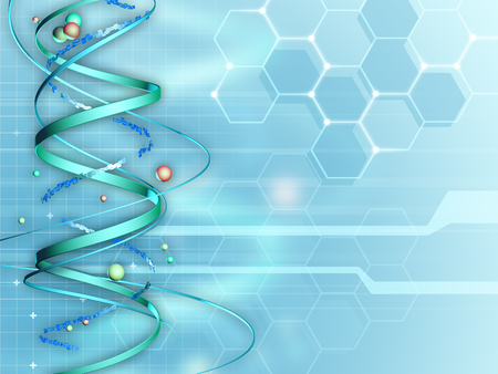 Background suitable for medical and research subjects. Digital illustration. Imagens