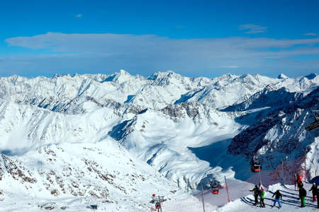 nger: Snow mountains in Austria Stock Photo