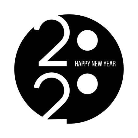 Happy New Year 2020 Text Design Patter, Vector illustration Illustration