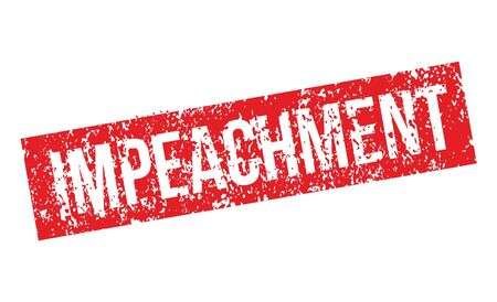 Impeachment. Stamp. Red grunge approved sign. Vector Ilustracja