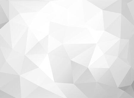 Gray White Polygonal Background, Creative Design Templates Vektorgrafik