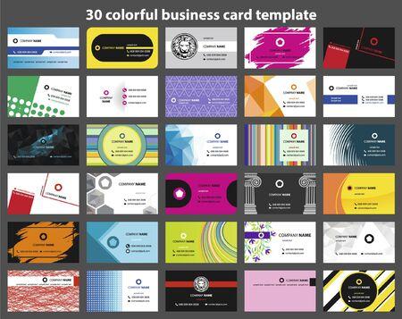 Plantilla de tarjeta de visita colorida 30