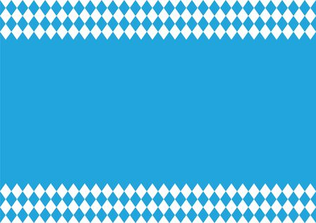Oktoberfest's background with blue-white checkered pattern, banner  イラスト・ベクター素材
