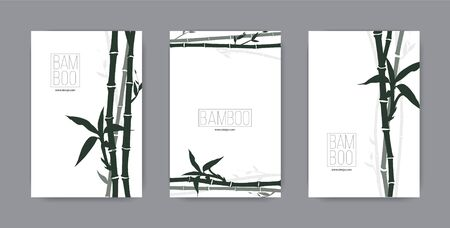 Canvas tropical bamboo for luxury hotels spa resort, the famous cloth pattern, organic texture. Vector illustration