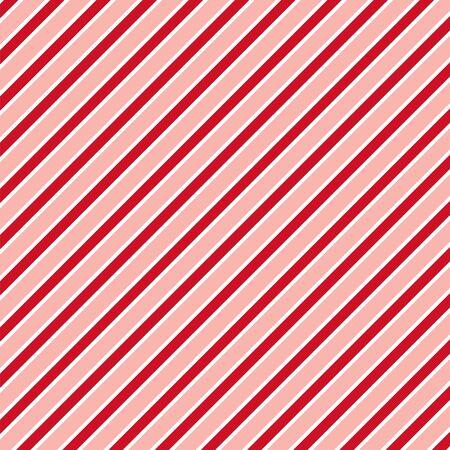 Red white diagonal stripe pattern background Illustration