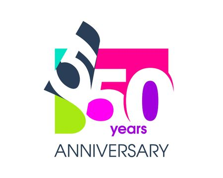550 years anniversary colored logo isolated on a white background for the celebration of the company. Vector Illustration Design Template
