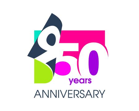950 years anniversary colored logo isolated on a white background for the celebration of the company. Vector Illustration Design Template 向量圖像