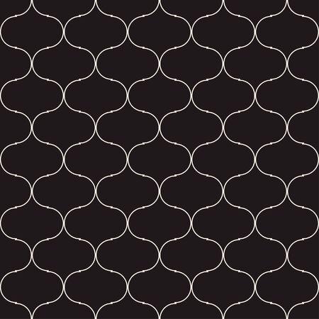 Turkish Mosque Window Vector Seamless Pattern. Ramadan Mubarak Muslim background. Traditional Ramadan Karim mosque pattern with  grid mosaic. Islamic window grid design of lantern shapes tiles. 向量圖像