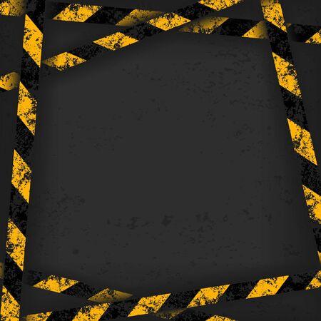 Detailed illustration of a industrial danger lines background. Vector Illustration