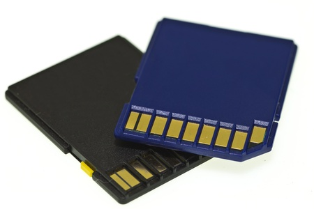 image of sd-card memory on white background photo