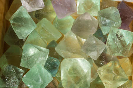 Fluorite crystals used for health, wellbeing and industry Stock Photo