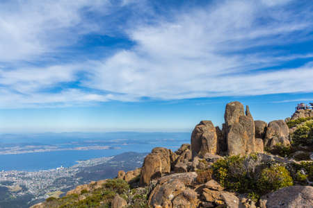 Stunning summit of Mount Wellington overlooking Hobart and the south coast