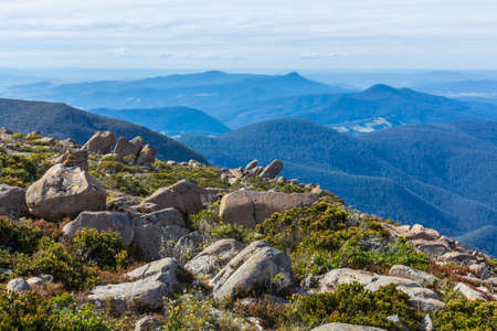 the stunning summit of Mount Wellington overlooking Hobart and the south coast