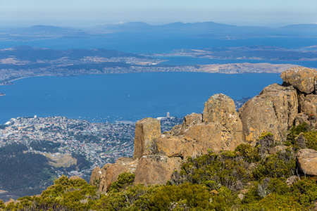 wrest: The stunning summit of Mount Wellington overlooking Hobart and the south coast