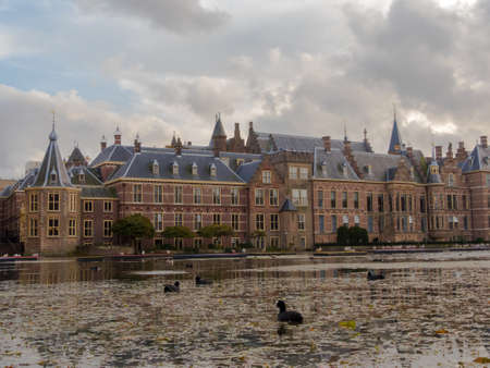 politic: The Hague, the Netherlands - 12 October, 2017: the historic Binnenhof buildings in The Hague
