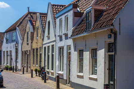 middleharnis, Goeree overflakkee, the Netherlands - July 14 2018: stunning historic dutch houses