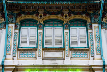tradditonal Peranakan shop house in Singapore