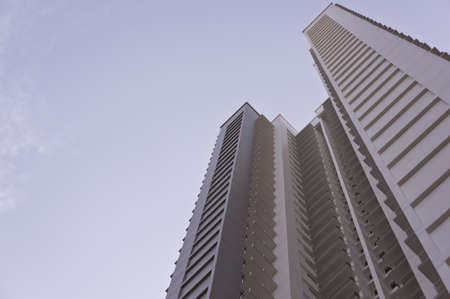 high rise: big grey apartment building in residential settlement  Editorial