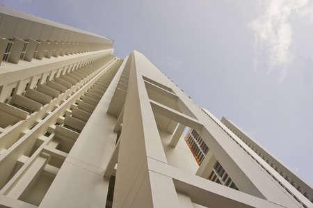 residential settlement: Big fancy apartment buildings in residential settlement.