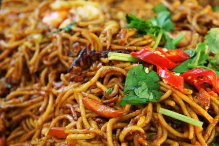 A traditional malay noodle, Mee Goreng                    Stock Photo
