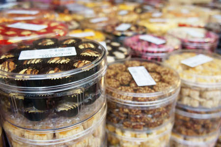 Tradition Malaysian new year cookies on display                        photo
