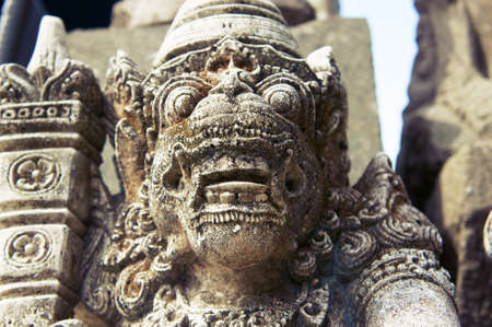 Low angle shot of Balinese God statue Stock Photo - 10883760
