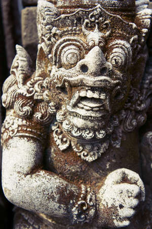 Mid shot of Balinese God statue in temple complex              Stock Photo - 10883759