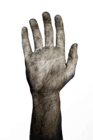 mano derecha: Undead derecha morir y adi�s con la mano