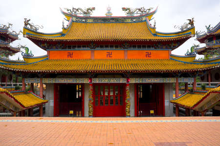 Direct front view of a Chinese temple.  Stock Photo - 11117304