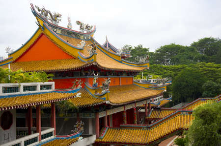 Side view of a Chinese temple decorate, Asia  Stock Photo - 11117305