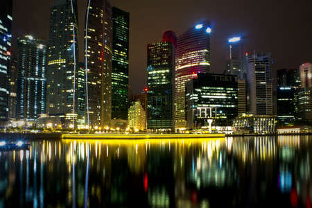 A generic city night view at water bayfront Stock Photo - 11134623