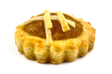 chinese new year food: Close up of a traditional Pinapple tart